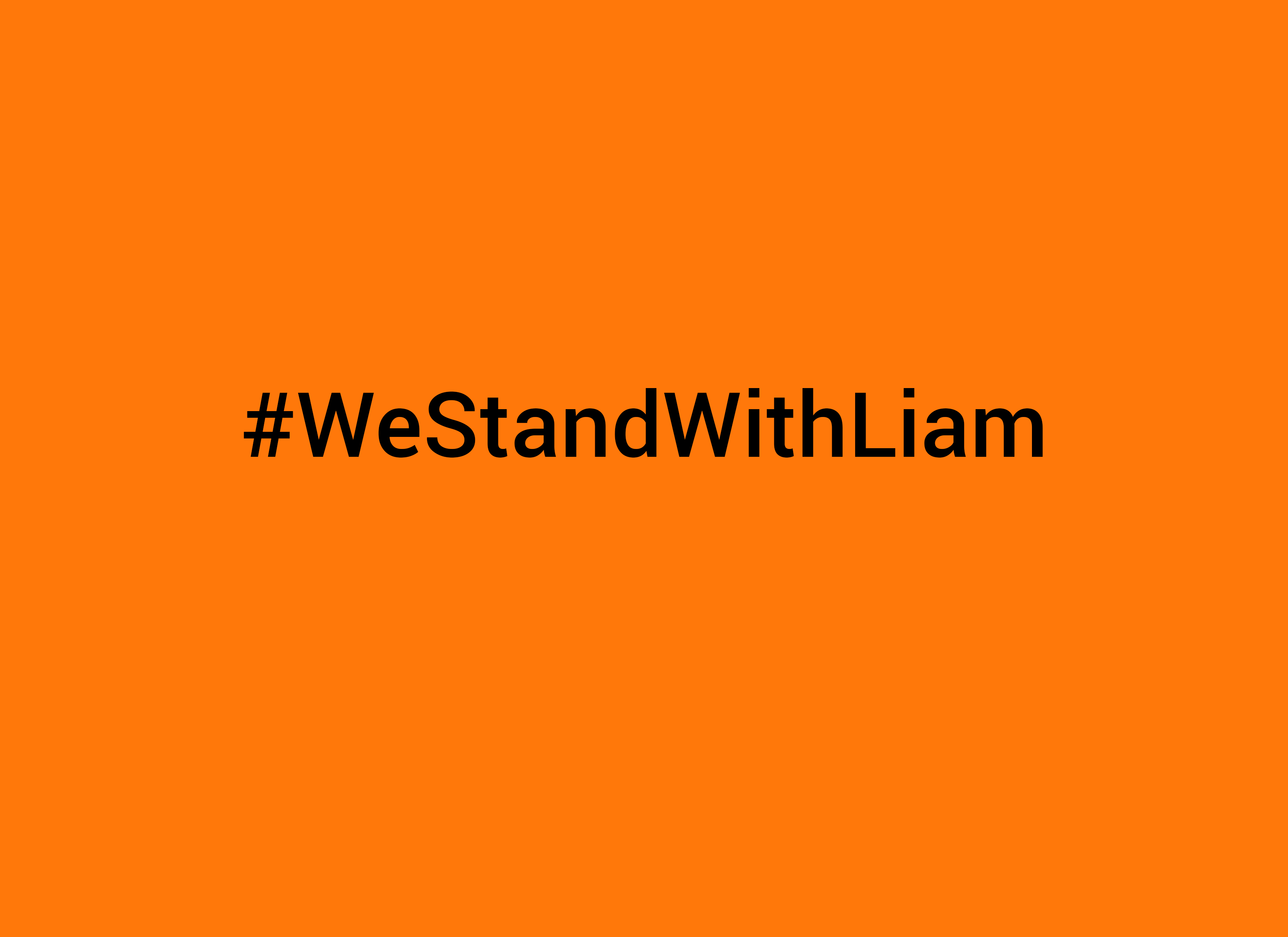 #WeStandWithLiam
