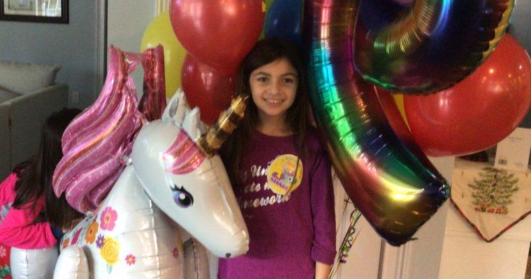 Dear Hannah, on your ninth birthday….